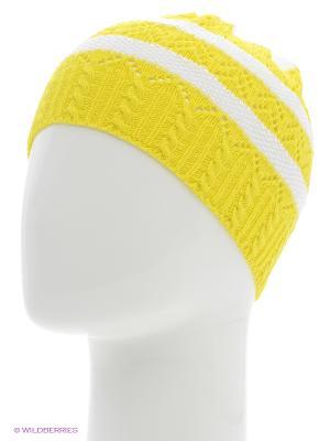 Шапка ELFRIO. Цвет: желтый, белый