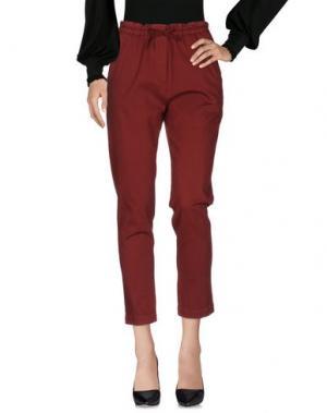 Повседневные брюки MYTHS. Цвет: красно-коричневый