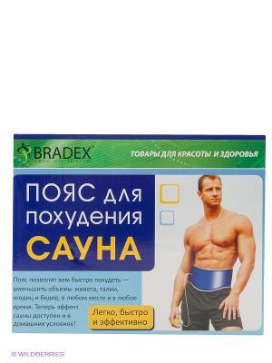 Пояс для похудения BRADEX. Цвет: синий