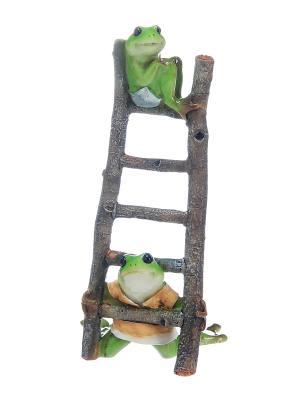 Фигурка декоративная Лягушки на лестнице Elan Gallery. Цвет: зеленый