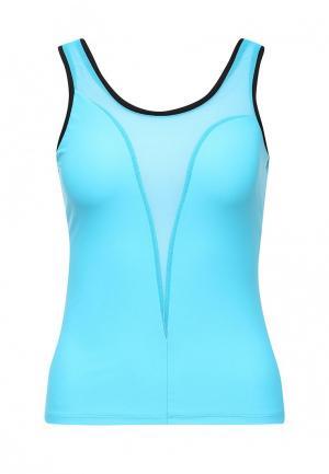 Майка спортивная Dali. Цвет: голубой