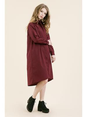 Платье-рубашка бордо (KW3) (One-size (42-46)) MONOROOM