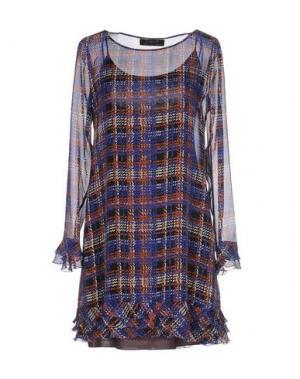 Короткое платье KRISTINA TI. Цвет: синий