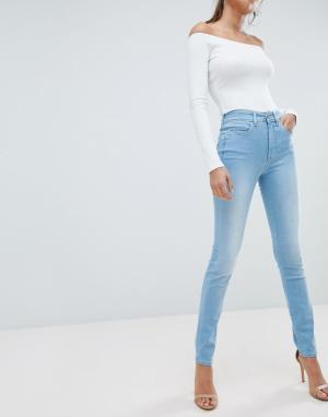 Salsa Зауженные джинсы пуш-ап с завышенной талией Glamour. Цвет: синий