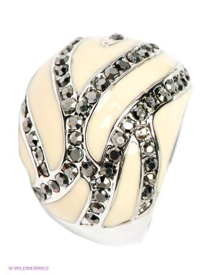 Кольцо Krikos. Цвет: кремовый, серый, серебристый