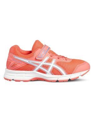 Спортивная обувь PRE GALAXY 9 PS ASICS. Цвет: коралловый, белый, голубой