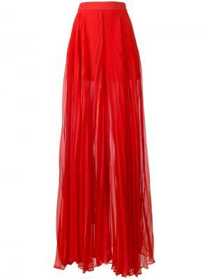 Плиссированные брюки-палаццо Elie Saab. Цвет: красный