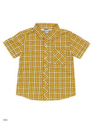 Рубашка Modis. Цвет: желтый, белый