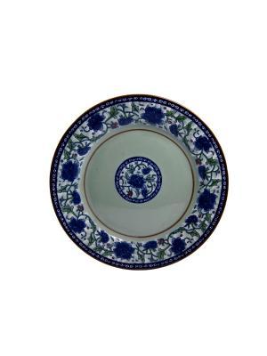 Тарелка для горячего Хива Elff Ceramics. Цвет: белый, синий