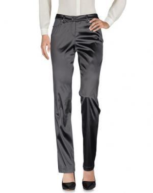 Повседневные брюки MARIA GRAZIA SEVERI. Цвет: стальной серый