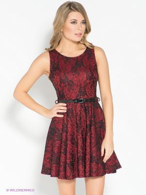 Платье AX Paris. Цвет: темно-красный, черный