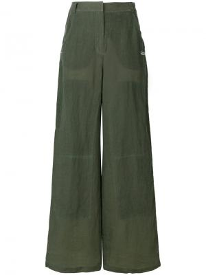 Широкие брюки Off-White. Цвет: зелёный