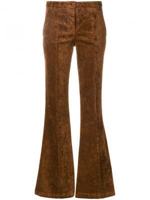 Расклешенные брюки 8pm. Цвет: коричневый
