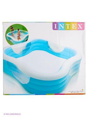 Надувной бассейн Intex. Цвет: голубой