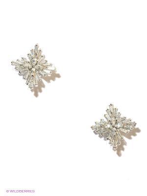 Серьги Lovely Jewelry. Цвет: серебристый, прозрачный