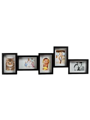 Фоторамка настенная Семейная история на 5 фото Bellezza casa. Цвет: черный