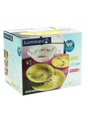 Сервиз столовый Luminarc. Цвет: зеленый