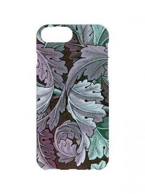 Чехол для iPhone 7Plus Капустные листья Арт. 7Plus-246 Chocopony. Цвет: зеленый, темно-серый