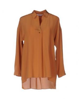 Блузка GUGLIELMINOTTI. Цвет: коричневый