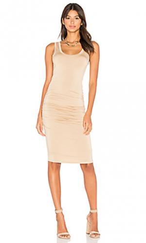 Платье frankie LA Made. Цвет: желтый