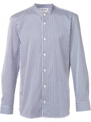 Полосатая рубашка с воротником-стойкой Harmony Paris. Цвет: синий