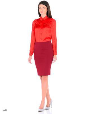 Блузка FOR YOU. Цвет: красный