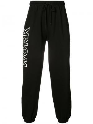 Спортивные брюки Work Andrea Crews. Цвет: чёрный