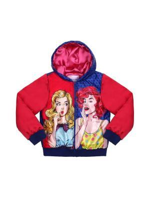 Куртка Stilnyashka. Цвет: синий, красный