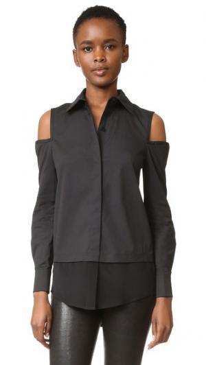 Блуза с открытыми плечами KAUFMANFRANCO. Цвет: оникс