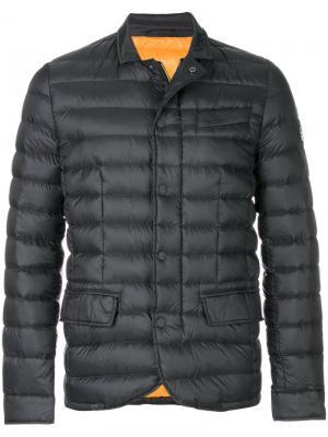 Пуховая куртка на молнии Hetregò. Цвет: серый