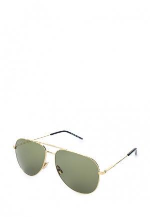 Очки солнцезащитные Saint Laurent. Цвет: золотой