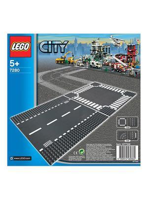 Игрушка Город Перекресток,номер модели 7280 LEGO. Цвет: серый (осн.), белый