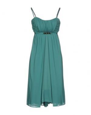 Платье до колена PF PAOLA FRANI. Цвет: зеленый