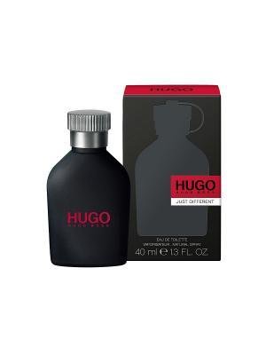 Туалетная вода  Hugo Just Different 40 мл BOSS. Цвет: антрацитовый, темно-серый, темно-зеленый