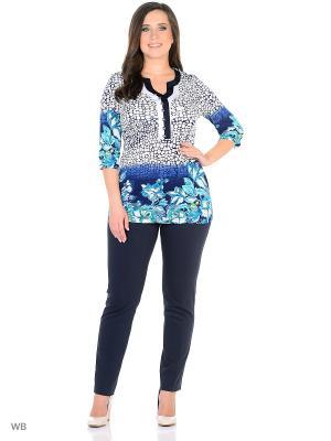 Туника, модель Росита Dorothy's Home. Цвет: белый, бирюзовый, синий