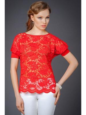 Блузы Арт-Деко. Цвет: красный