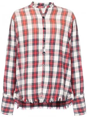 Клетчатая рубашка Greg Lauren. Цвет: красный