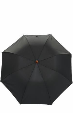 Складной зонт Pasotti Ombrelli. Цвет: черный