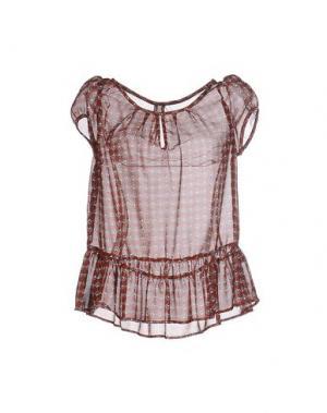 Блузка EMMA&GAIA. Цвет: ржаво-коричневый