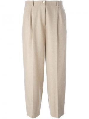 Укороченные брюки со стрелками Nehera. Цвет: телесный