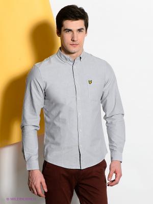 Рубашка Lyle&Scott. Цвет: светло-серый