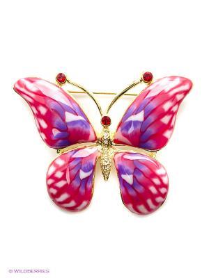 Брошь Bijoux Land. Цвет: сиреневый, розовый, золотистый