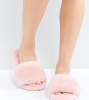 OZLANA Слиперы-шлепанцы. Цвет: розовый