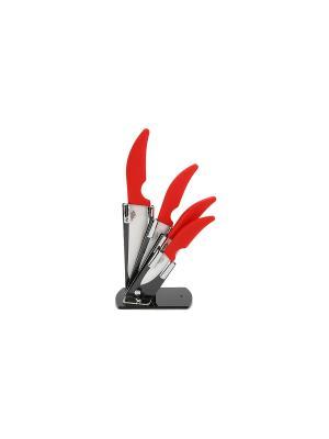Набор керам,ножей 1/5 Green Top. Цвет: красный, белый
