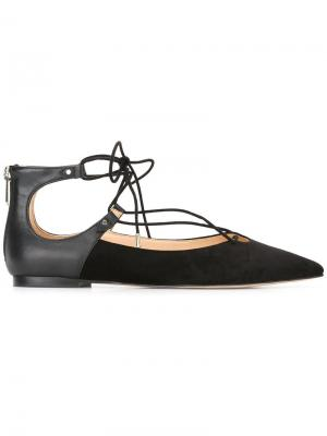 Балетки Rosie на шнуровке Sam Edelman. Цвет: чёрный