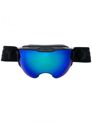 Объемные солнцезащитные очки Oakley. Цвет: чёрный