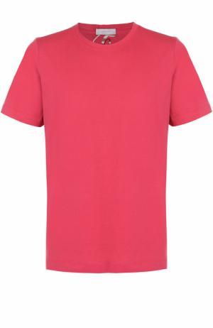 Хлопковая футболка с круглым вырезом Cortigiani. Цвет: красный
