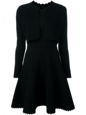 Платье с эффектом болеро Alaïa Vintage. Цвет: чёрный