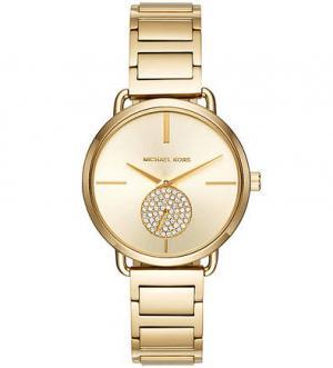 Часы с металлическим браслетом позолотой Michael Kors