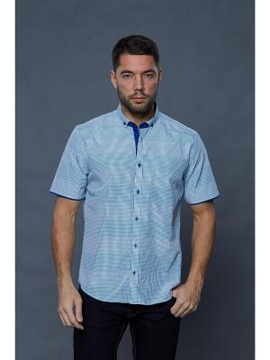 Рубашка John Jeniford. Цвет: зеленый, синий